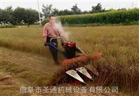 手扶式水稻收割机视频 小型收割机价格