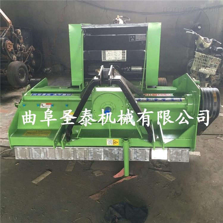 全自动收割粉碎打捆机秸秆回收打捆一体机