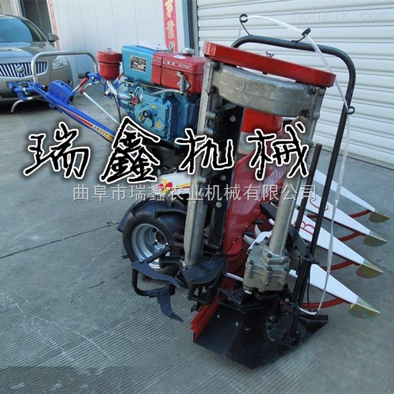 收割机两行农用玉米收割机 农用手推式前置式割晒机 手推式起草皮机