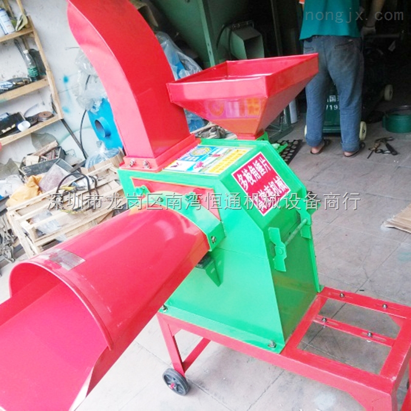 广州牛羊饲料粉碎机 玉米秸秆粉碎揉丝机 鸡饲料铡草机