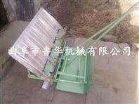 水稻两行手摇式插秧机 小型手压式插秧机水稻播种机