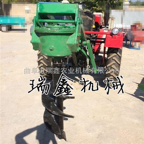 植树造林挖坑机 农地挖坑打眼机 拖拉机四轮带动植树挖坑机