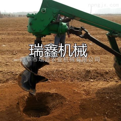 林业专用种树挖坑机 螺旋种植栽树机 拖拉机带动挖坑机