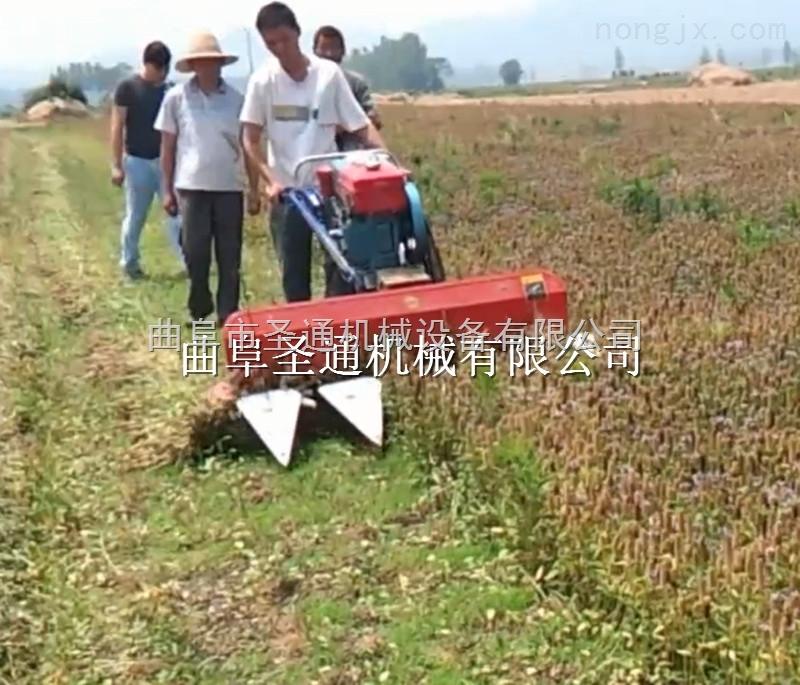 习水麦稻小型收割机 手扶式农用辣椒割晒机