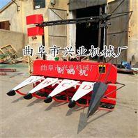 水稻割捆机价格多功能牧草收割机自动拨料小型收割机