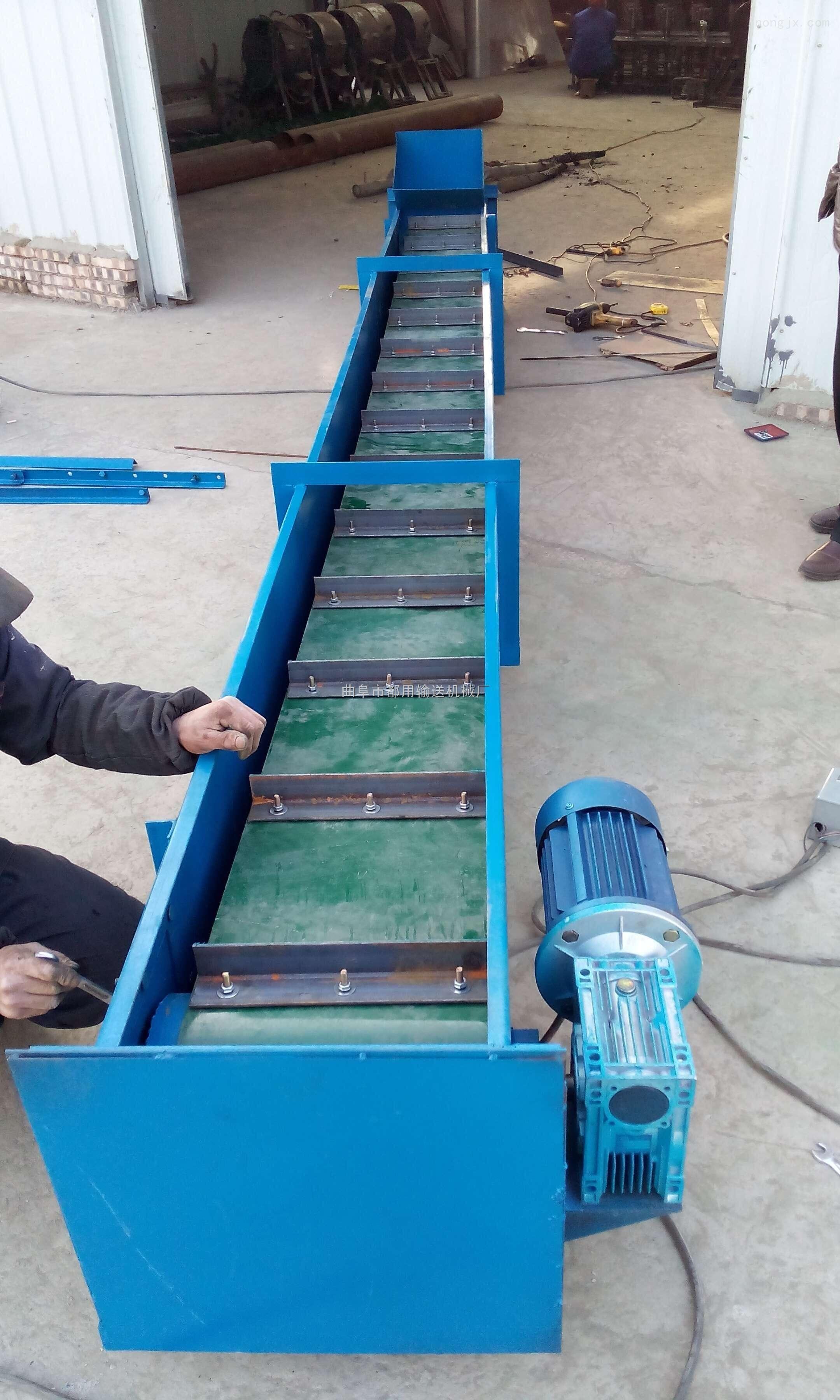 槽型饲料颗粒刮板输送机,皮带式刮板送料机