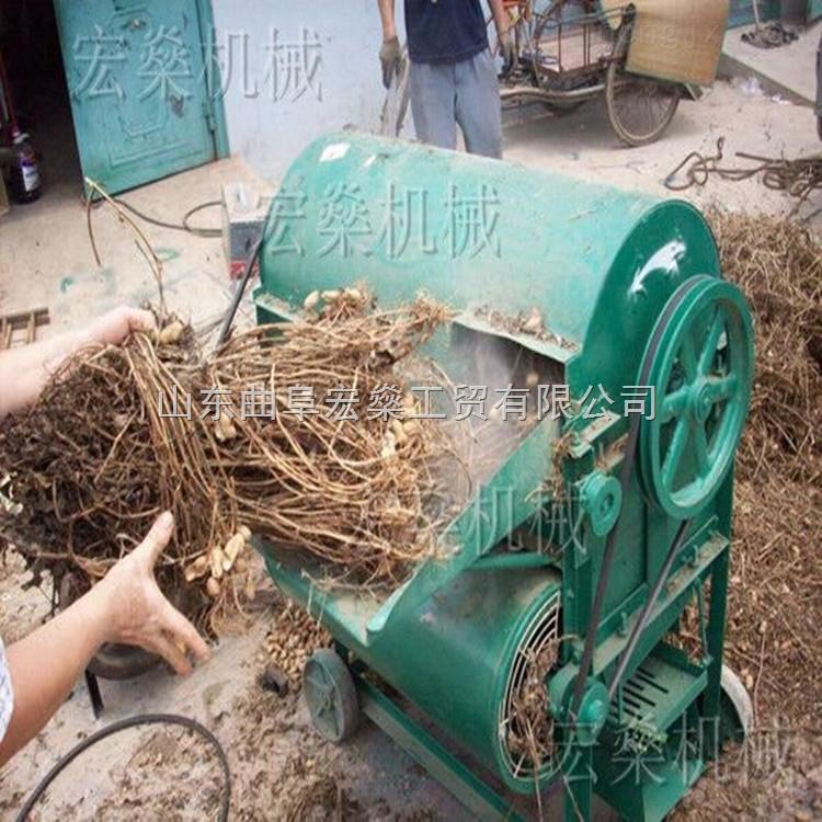 温县干湿两用花生摘果机 全自动花生收获摘果机
