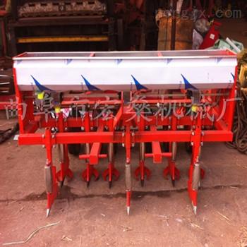 HS-新式多功能谷子播种机 四轮车带小麦玉米施肥播种机