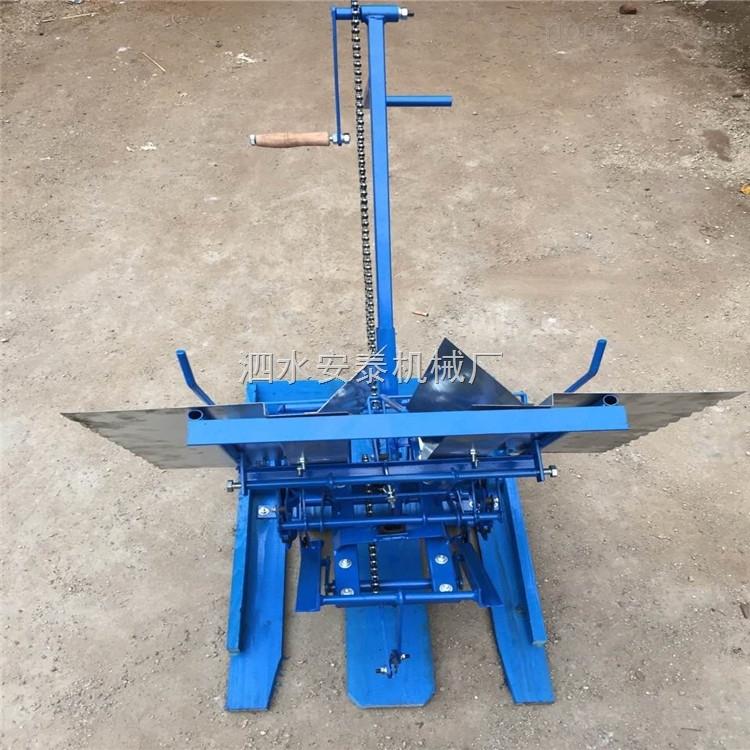 微型手压式禾苗育秧机 可乘坐式农用水稻多功能种植机 小地块插秧机