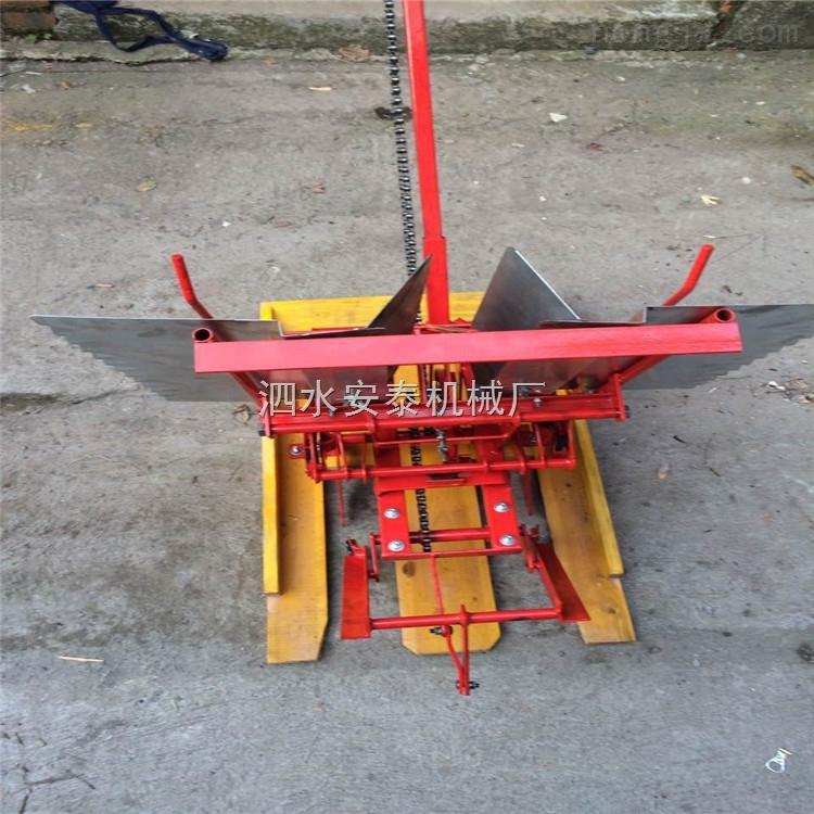 手搖秧苗插秧機 家用小面積步退式雙行水稻育秧機 高效率插禾機