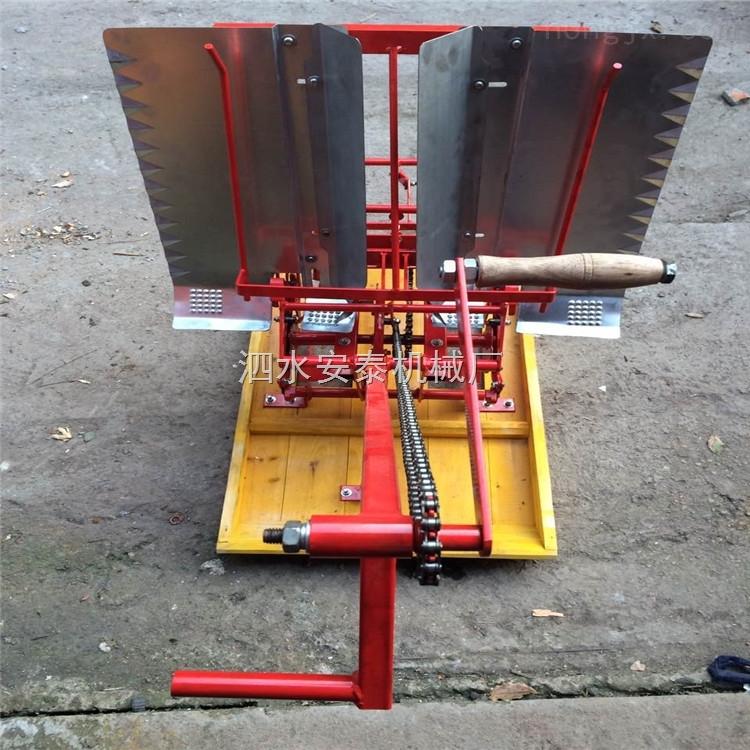 两行人力小型手压插秧机 高产量水稻播种机直销 插秧整齐成活率高的育秧机