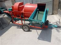干湿两用自动装袋摘果机 富兴大型拖拉机无破损的花生脱粒机价格