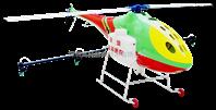单旋翼喷洒农用植保无人机