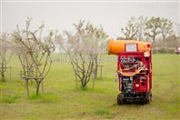 遙控自走式風送高射程噴霧機
