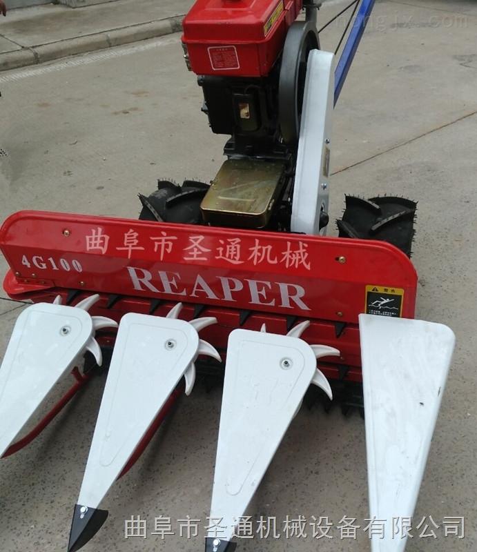 手推式秸秆收割机 玉米秸秆青储收获机