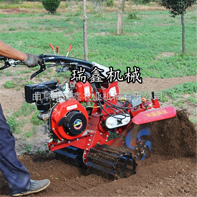 农业大棚种植开沟机 大葱开沟培土机 手扶式汽油田园管理机