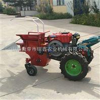青玉米秸秆粉碎还田机价格 10马力柴油掰玉米棒子机